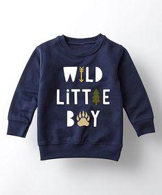 Instant Message Navy  Wild Little Boy  Crewneck Sweatshirt - Toddler   Boys 8b74748dd