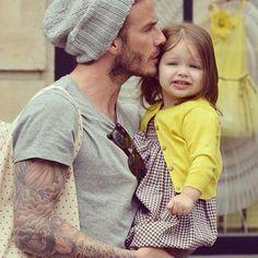 David Beckham and Harper