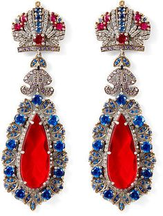 Shop Clothing for Men, Women, Children & Babies Ralph Lauren Shop, Ralph Lauren Collection, Queens Birthday Party, Crown Earrings, Luxury Jewelry, Statement Jewelry, London Fashion, Red And Blue, Swarovski