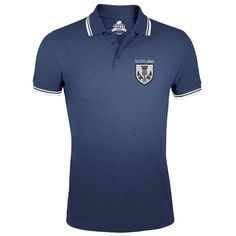 46c3938d55bd Scotland Rugby Polo Shirt TryBull Thistle Logo Embroidered Mens 6 Nations  TR14