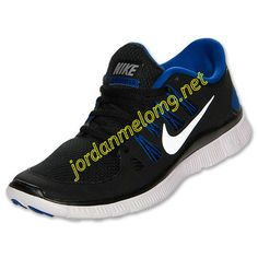 a2403bfb8a93 Nike Free 5.0 Mens Review Running Shoe Black Reflect Silver Hyper Blue  579959 041 Nike Men