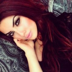 """Deep red hair - is creative inspiration for us. Deep red hair """"> Deep red hair - Get more… Continue Reading → Love Hair, Great Hair, Gorgeous Hair, Gorgeous Makeup, Beautiful Beautiful, Pretty Makeup, Hot Hair Colors, Hair Colour, Red Color"""