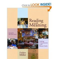 All of Debbie Miller's books are worth reading. This book will help you teach your students strategies for comprehending text.