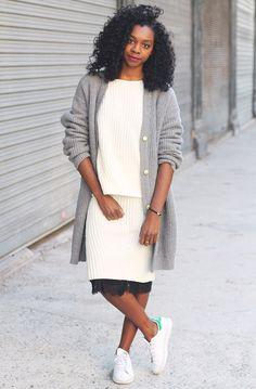 Женский вязаный костюм, вязаная мода зима-весна 2016, модная вязаная юбка, стильные вязаные вещи 2016 (фото 6)