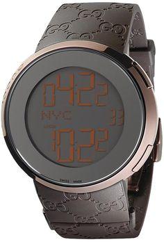 f92204adf9b06 Gucci 114 I-Gucci Mens Watch YA114209 The Plastic wrist-Band makes it look