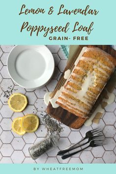 This grain-free poppyseed loaf is full of fresh flavours of lemon and lavender. The gluten-free loaf is super moist and delicious. Loaf Recipes, Gluten Free Recipes, Grain Free, Free Food, Baked Goods, Main Dishes, Grains, Lavender, Lemon