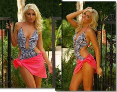 The Hipster Monokini from Brigitewear available in thong or Rio bottom, shown here with matching sarong.