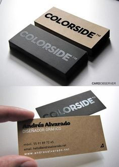 Colorside Business Card - Colorside Business Card Bad: A graphic design business card for a company called colorside yet it is very boring and neutral and doesn't have any uniqueness to it Letterpress Business Cards, Business Branding, Business Card Logo, Business Card Design, Minimal Business Card, Unique Business Cards, Creative Business, Corporate Design, Branding Design