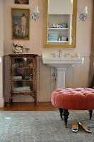 ottoman in the bathroom