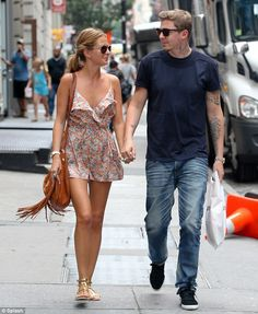 Professor Green and Millie Mackintosh hit the shops in New York City, for her 23rd birthday
