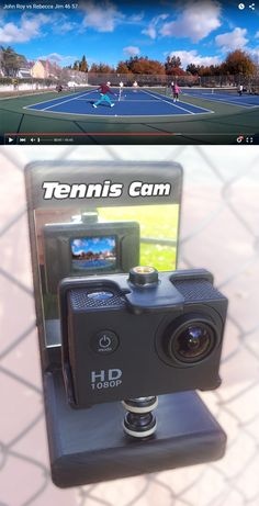 Record your tennis matches to improve your game. Review your shot placement, stroke mechanics. Even copy your opponent's successful tactics.