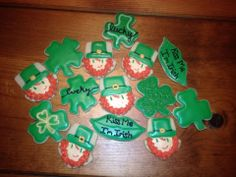 St. Patrick's day Sugar cookies made with royal icing