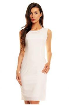 Klasyczna sukienka bezrękawnik do biura KM77