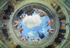Andrea Mantegna, Camera degli sposi, 1473, Castello di San Giorgio, Mantova.