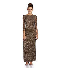 Pisarro Nights Beaded Cowlback Gown #Dillards