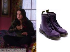 Switched at Birth: Season 3 Episode 22 Bay's Purple Lace Up Boots