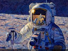 ART from another world: Alan Bean was the fourth man on the moon. He is now a painter.