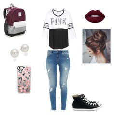 """""""Pink"""" by pbandjelly-1 on Polyvore featuring Ted Baker, Victoria's Secret, Converse, AK Anne Klein and Casetify"""