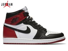 a2d4df033bbd Men s Air Jordan 1 Black Toe Basketball Shoes White Black-Varsity Red  555088-