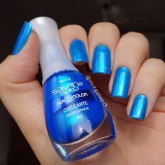 Dancedance da Beauty Color - Sabrina Sato. Unhas Azuis. Blue nails. Nail art. Nail design. Polishes. Polished. by @morganapzk