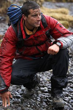 Bear Grylls, Marks obsession is worrying. Man Vs Wild, Hot British Men, Bear Grylls Survival, League Of Extraordinary Gentlemen, Rugged Men, Ideal Man, Great Tv Shows, Male Photography, Outdoor Gear