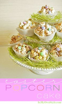 Popcorn Cake Recipe Perfect for Easter treats  {InMyOwnStyle.com}  #easter  #sweets