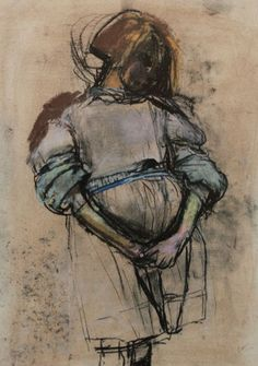 "Joan Eardley, ""Little Glasgow Girl,"" pastel, 18 x 13 in, Private Collection Glasgow Girls, Glasgow School Of Art, Pastel Portraits, Creative Portraits, Gouache, Pastel Art, Pastel Drawing, Life Drawing, Art Sketchbook"