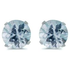 March Birthstone Aquamarine Earrings by JewelDork www.dorkbrands.com