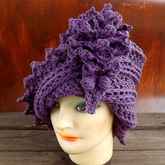Crochet Pattern Hat Crochet Hat Pattern  Womens Hat LAUREN 1920s Cloche Hat Pattern with Flower Crochet Flower Pattern for Hat by strawberrycouture by #strawberrycouture on #Etsy