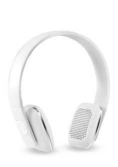 Innovative Technology Rechargeable Wireless Bluetooth Headphones With Rubberized Finish - White - One Size
