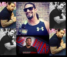 Roman Reigns collage Roman Reigns Gif, Wwe Superstar Roman Reigns, Best Wrestlers, Roman Reings, Wwe World, Seth Rollins, Fine Men, Wwe Superstars, Roman Empire