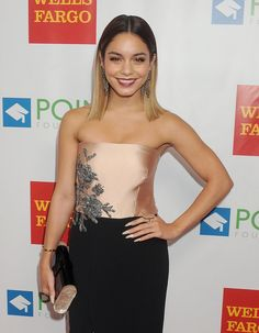 Vanessa Hudgens dazzled at the Point Foundation's annual Voices On Point gala.