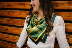 Dapper Bear's Lady Silk Scarf - The official Baylor plaid
