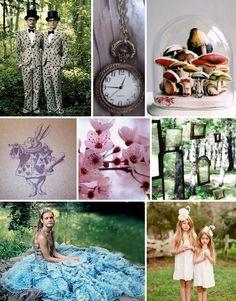 alice in wonderland inspiration - sources: Annie Leibovitz, look book, lyndie dourthe, a little bit of violette, cherry blossoms from deviant art, Style Amor, Annie Leibovitz, Elizabeth Messina : greenweddingshoes  #AliceInWonderland