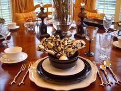 Rattlebridge Farm: Tablescape Thursday: Black & White Dishes & a Mother's Day Ice Cream Bombe'