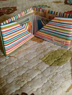 Tissue wallet :) Carteira de origami em tecido!  Link para o tutorial: https://www.youtube.com/watch?v=X56y0S7GjUU&feature=youtube_gdata_player