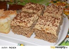 Ořechové řezy I recept - TopRecepty.cz Krispie Treats, Rice Krispies, Banana Bread, Recipes, Food, Hampers, Essen, Meals, Eten