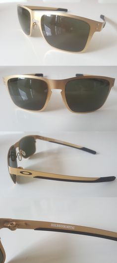 0a51499c7b Sunglasses 79720  Oakley Holbrook Metal Sunglasses Oo4123-08 Satin Gold  Grey Lens Brand New