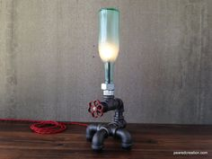 Fathers Day Gift  Beer Bottle Lamp  by newwineoldbottles on Etsy, $130.00