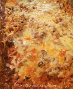 Are you ready for the best baked spaghetti you've ever had in your life?! This BOMB baked spaghetti recipe will change your family spaghetti night forever.