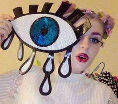 21chronically illvintage & random DIY creations pastelsfloralslace 10% of all listed prices go to Crohn's & Colitis Foundation of America  sequin eye patch iron on discount universe illuminati kawaii punk pastel goth