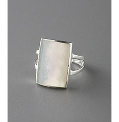 Mother-of-Pearl ring.  I love Mother of Pearl, it's so pure and simple; yet elegant.  It reminds me of the ocean, which in turn, reminds me of my mom.    I have a ring identical to this one...love it!