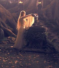 Galadriel, Queen of Lorien. Beautiful as she is strong and intelligent. Feminine as she is strong-willed.