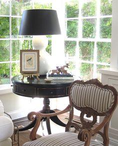 Living room corner window.