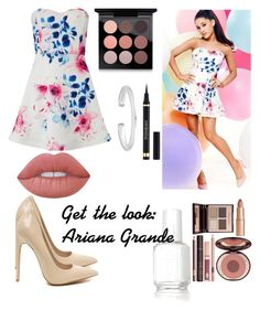 """Get the look: Ariana Grande Part.2"" by dorothy-moore ❤ liked on Polyvore featuring beauty, Lipsy, Essie, Lime Crime, MAC Cosmetics and Charlotte Tilbury"