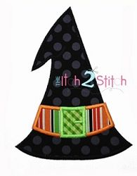 Witch Hat Applique - 3 Sizes! | Halloween | Machine Embroidery Designs | SWAKembroidery.com The Itch 2 Stitch