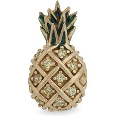 Marc Jacobs Pineapple single stud earring ($37) ❤ liked on Polyvore featuring jewelry, earrings, crown jewelry, stone jewelry, glitter stud earrings, crown stud earrings and leaf earrings