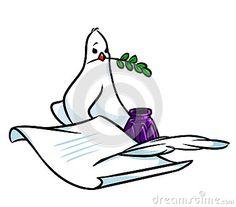 Dove of Peace cartoon illustration   image