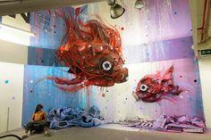 Sucata vira arte de rua com Bordalo