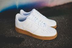 White Gum Nike Air Force 1 Low